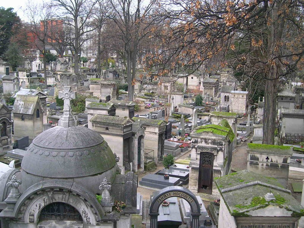 The Cemetery in Montmarte.