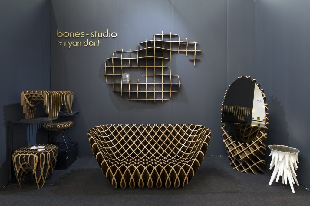 The products from Bones-studio at the Made exhibition.
