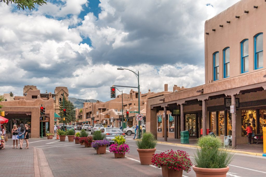 A street in downtown Santa Fe.
