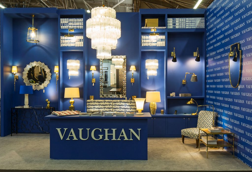 The Vaughan lighting stand at the Furnish exhibition.