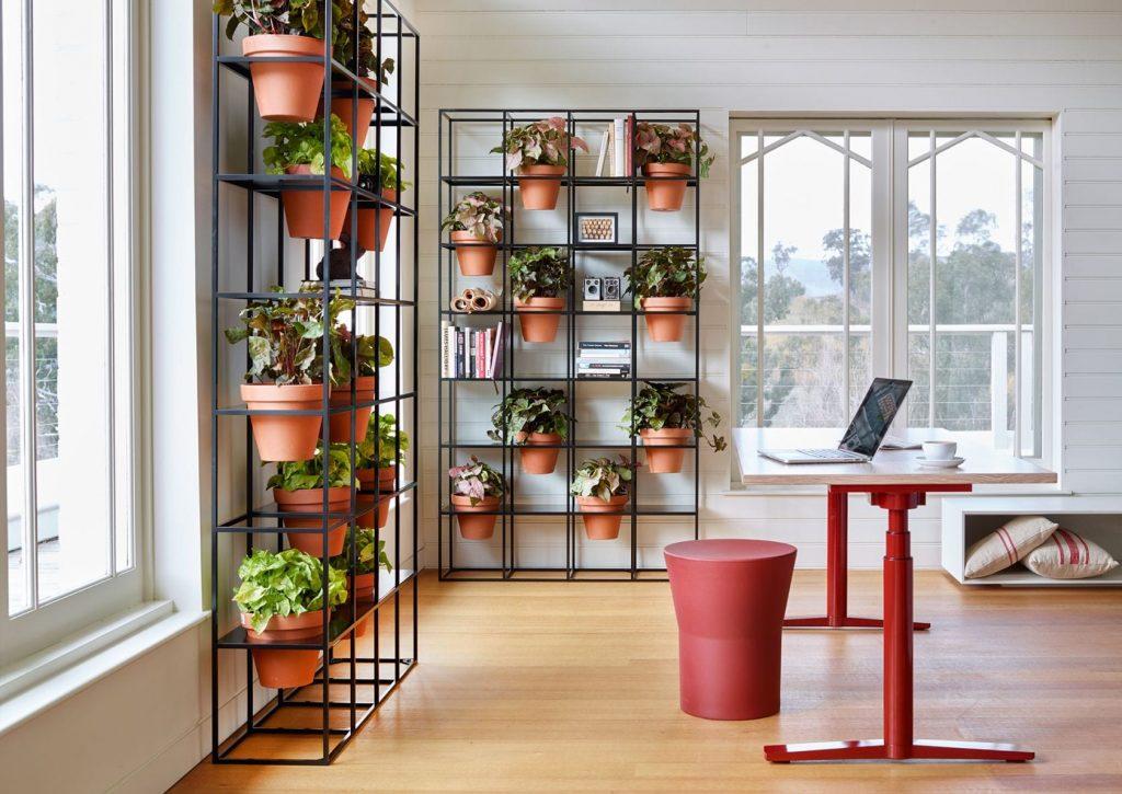 A more modern take on furniture gardens.