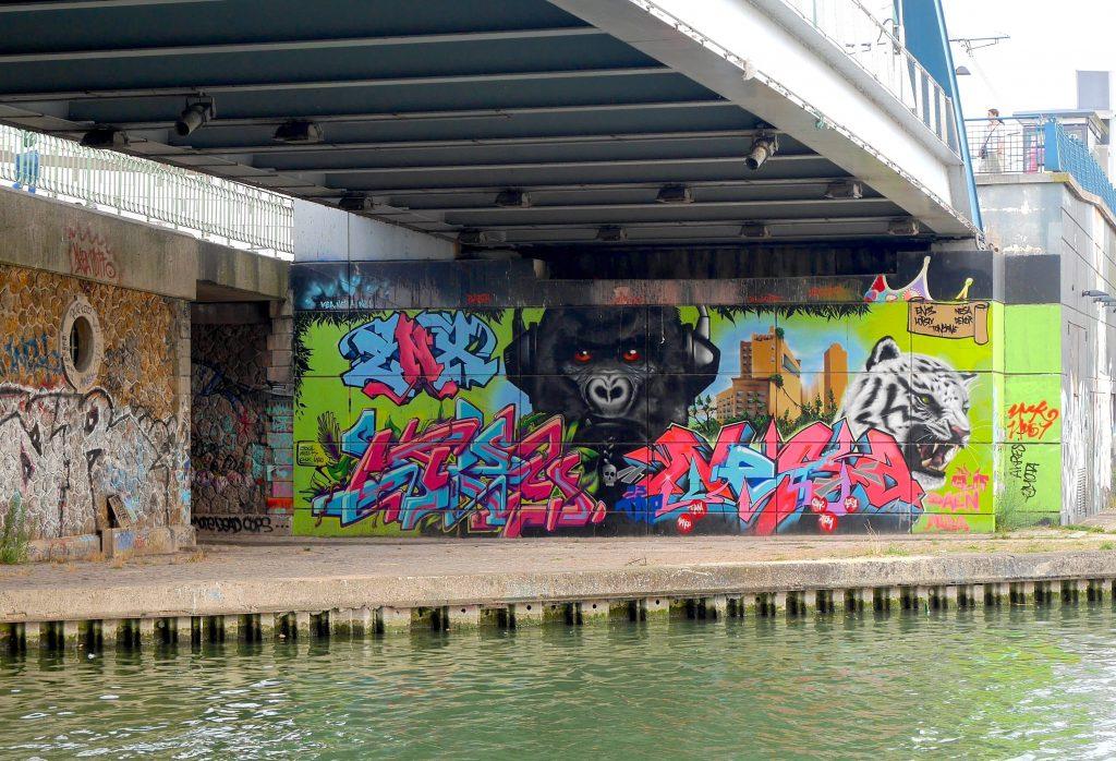 Street Art near Canal de l'Ourcq