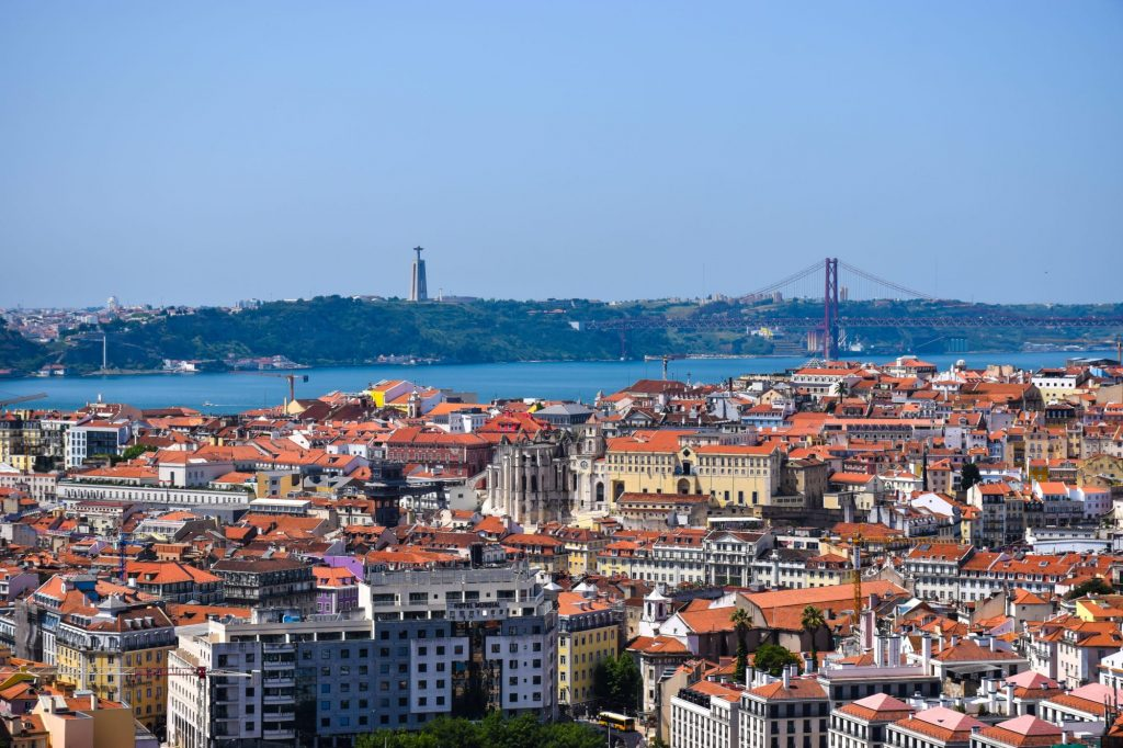 A view over the city Lisbon.