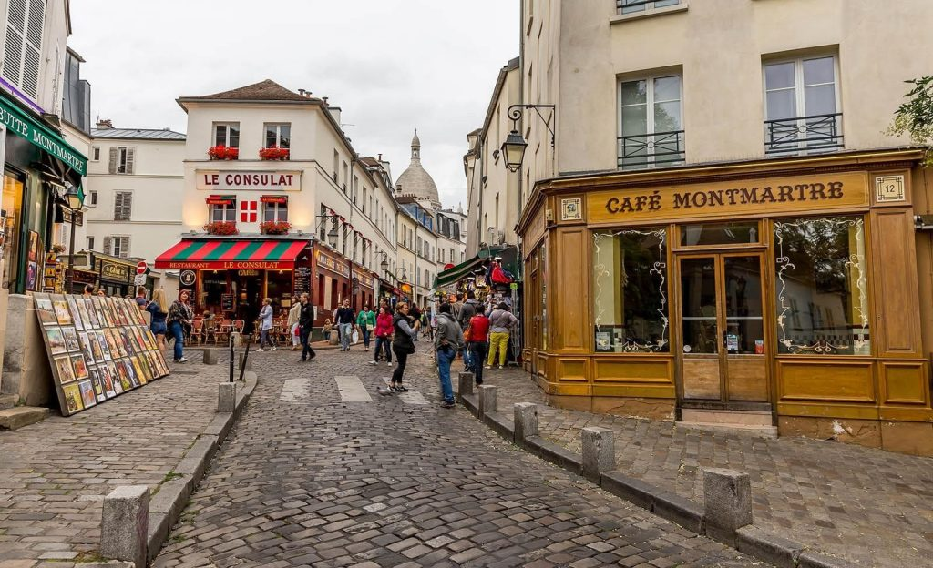 A busy street in Montmartre