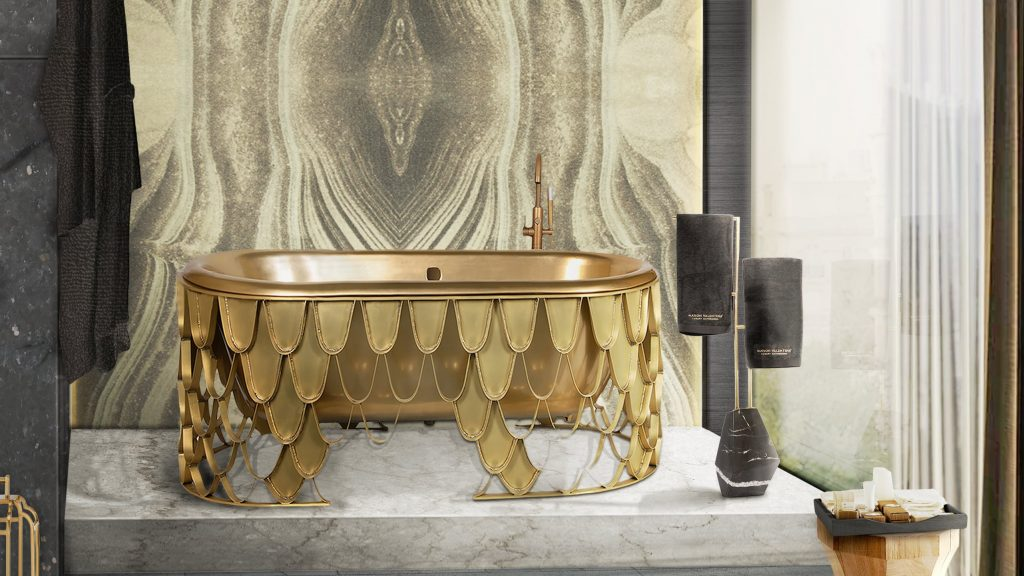 The Diamond towel rack by Maison Valentina and other bathroom accessories.