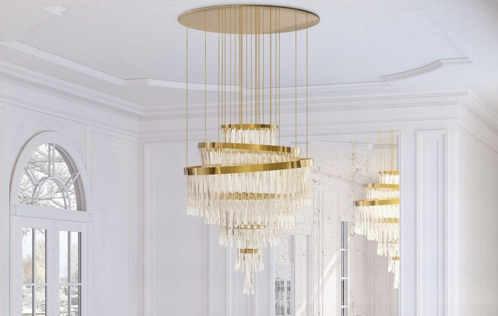 The Babel chandelier by Luxxu completes any dining room.