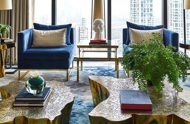 The Eden center table by Boca do Lobo, taking residence in a Skyscraper office