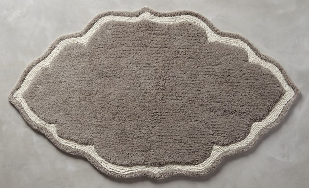 Bathroom accessories come in many forms and shapes, like a bathroom rug.
