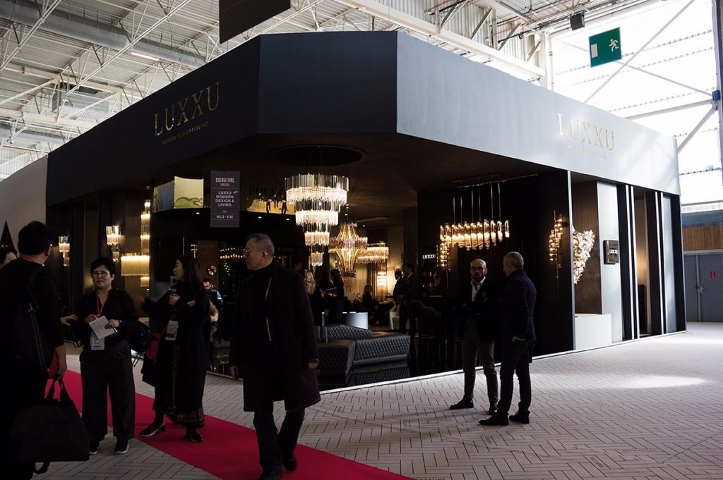 The Luxxu stand at Euroluce!