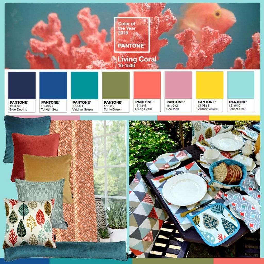The last Pantone colour palette to combine Living Coral with.