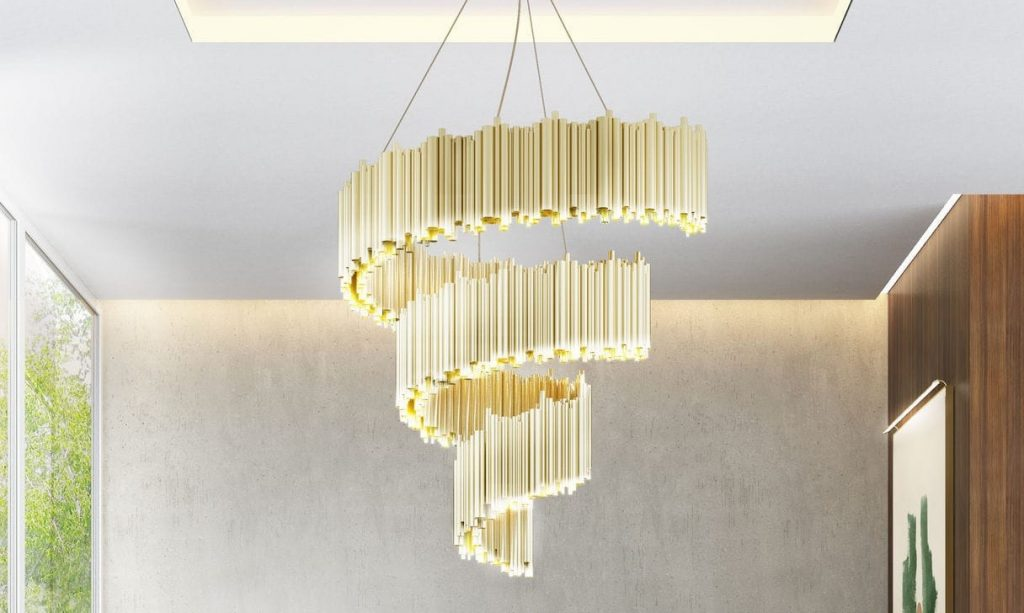 The brubeck spiral chandelier by Delightfull is a fenomenal lighting piece.