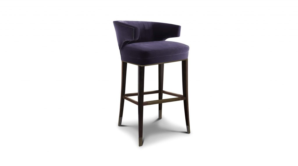 The Ibis bar chair in charcoal grey.