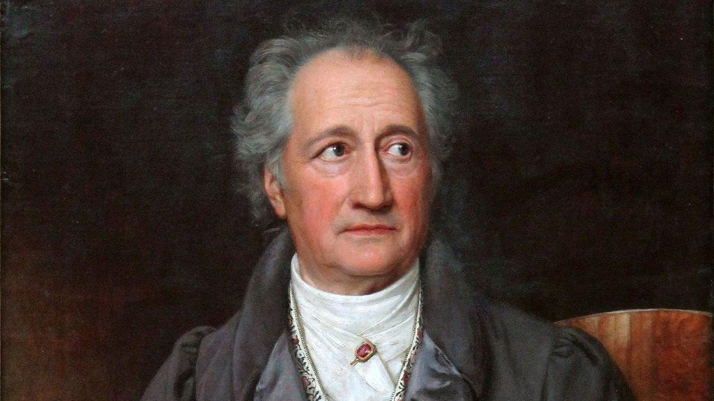 A portrait of Johann Wolfgang von Goethe