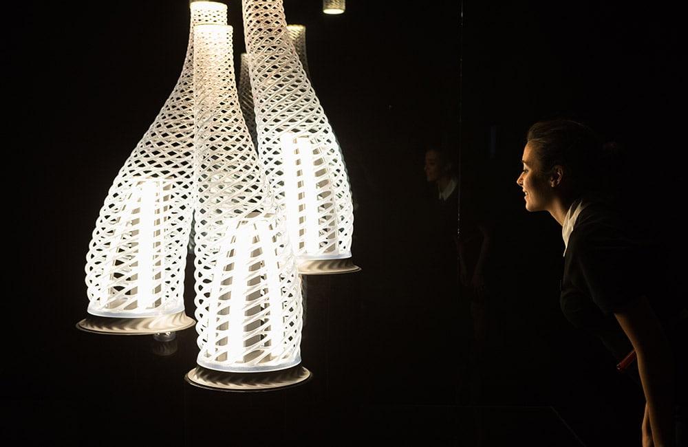 An interesting lighting design at Euroluce.