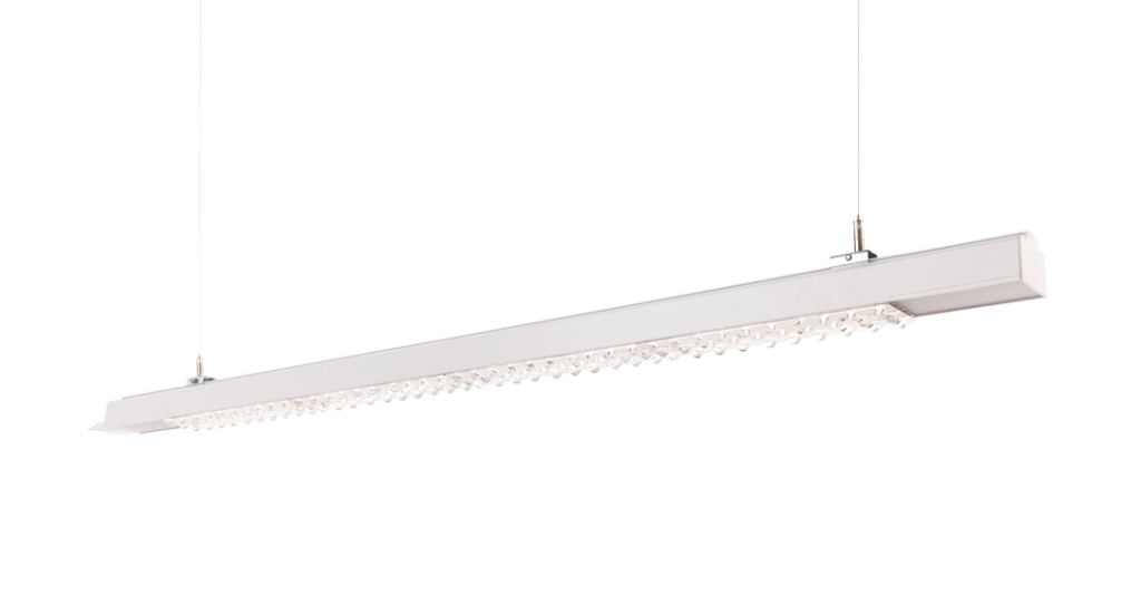 One of their led powered industry lighting that can be seen at Euroluce.
