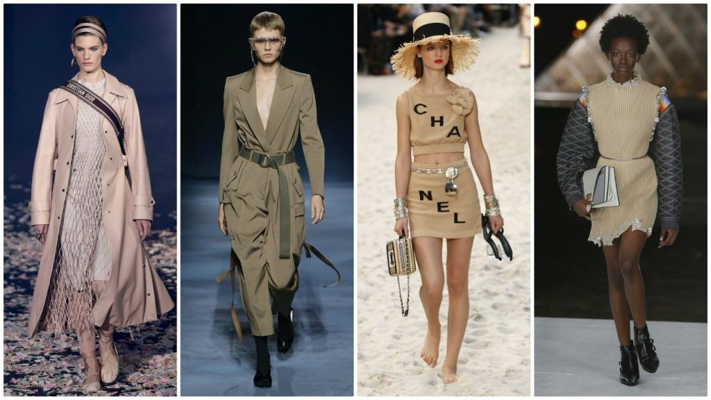 Beige from head to toe was seen all over the catwalk at PFW19.