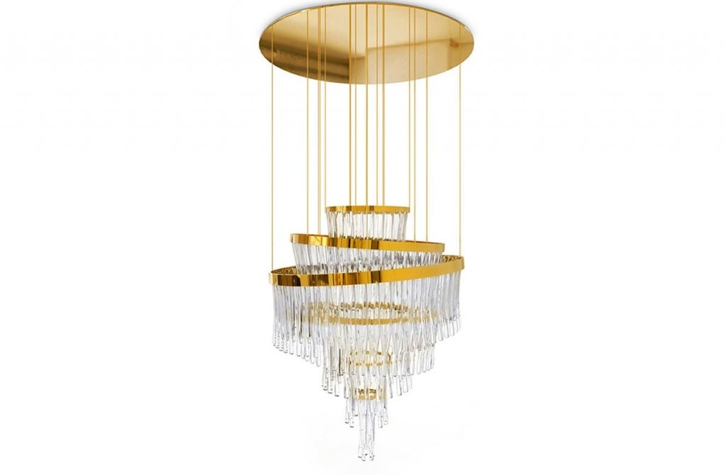 The Babel chandelier is an enormous lighting piece by Luxxu.