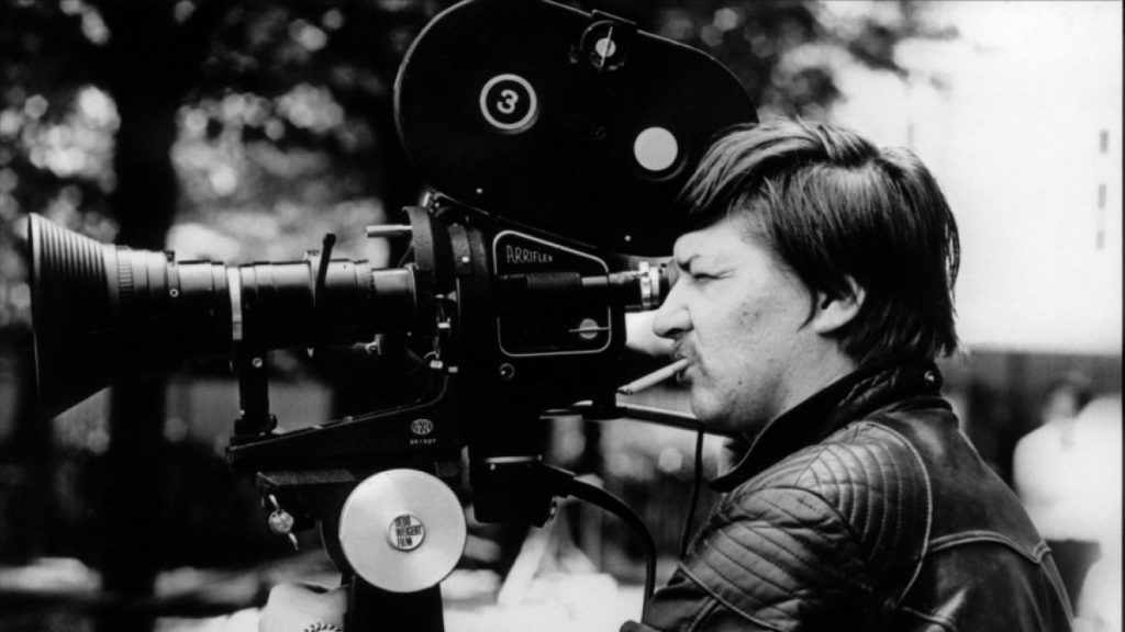 Rainer Werner Fassbinder at work behind the camera.