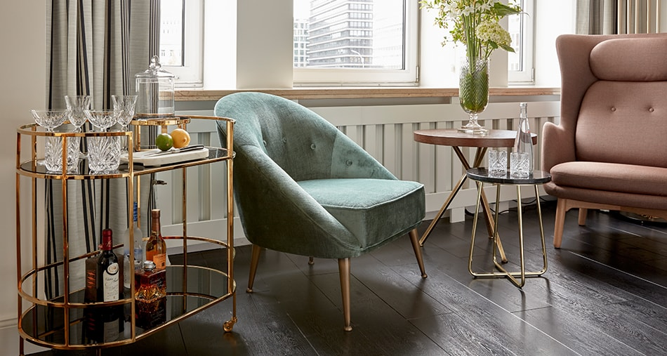 Discover the Malay bar chair in the Sir Nikolai Hotel in Hamburg, Germany.
