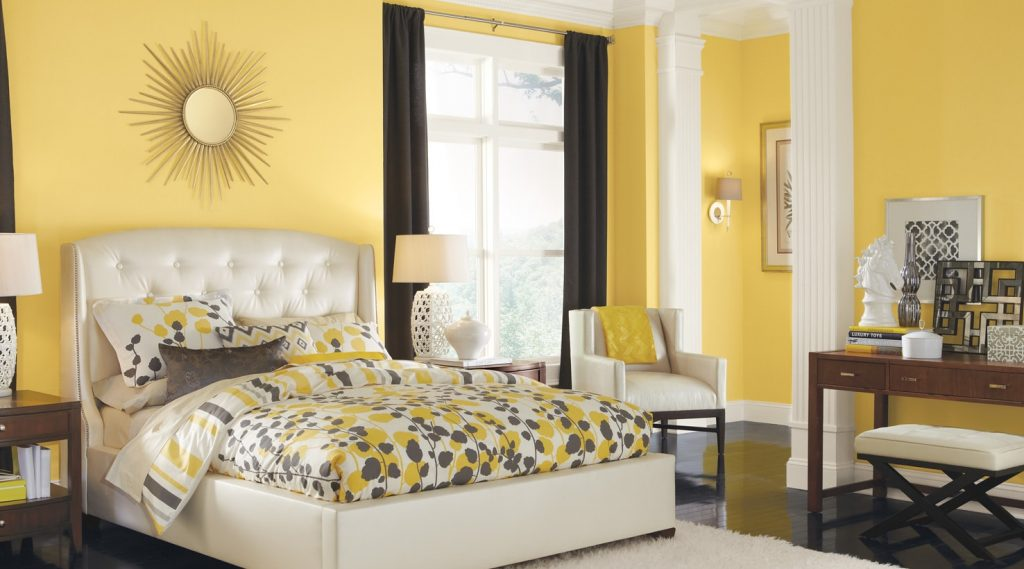Vibrant colours for your home include Lemon Verbena and other yellow colours.