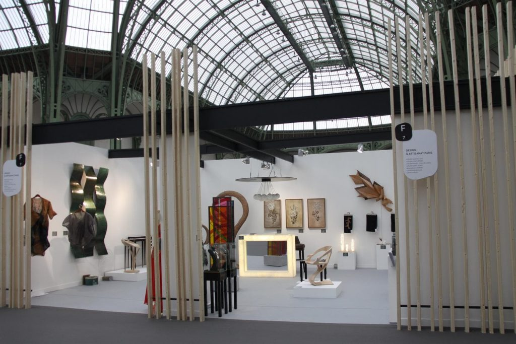A stand at the design event in Paris, France.