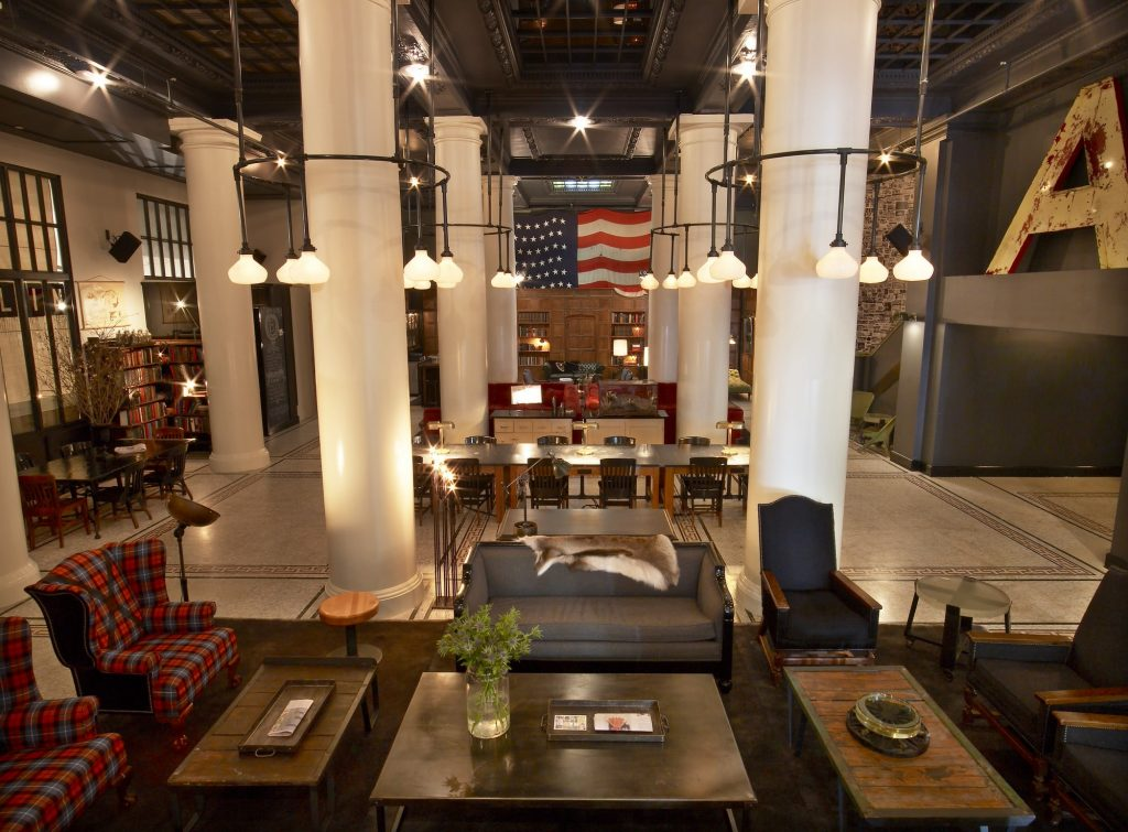 The Ace hotel lobby in New York City.