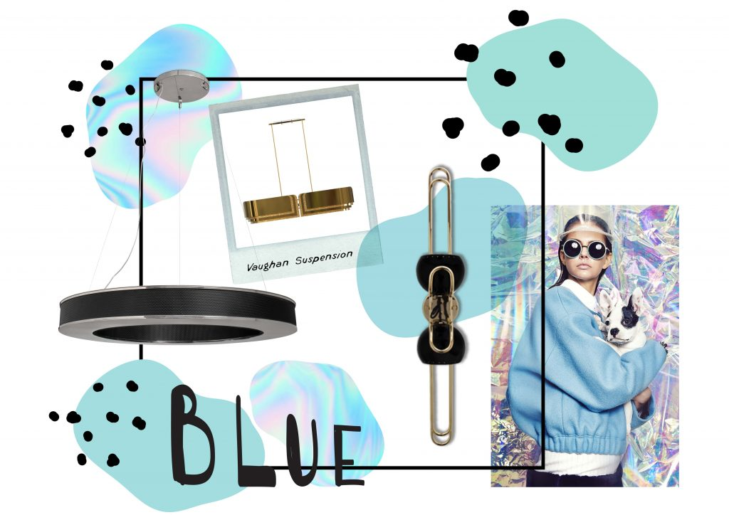 A blue mood board that is sure to inspire you.
