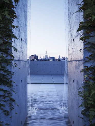 Rooftop view of 152 Elizabeth Street building, created by Tadao Ando