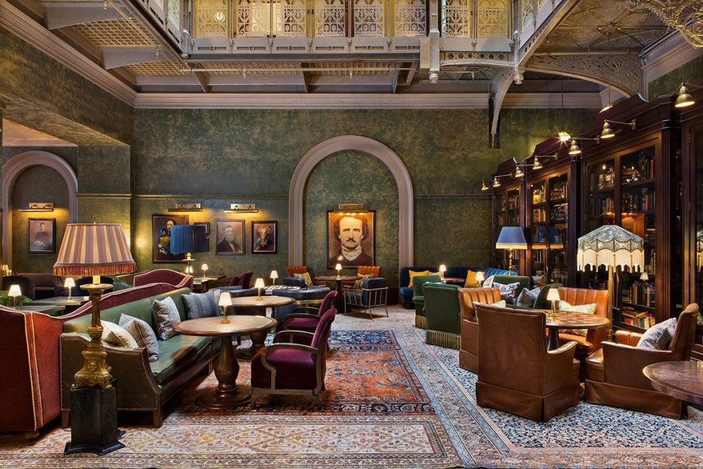 The Beekman lobby in New York City.