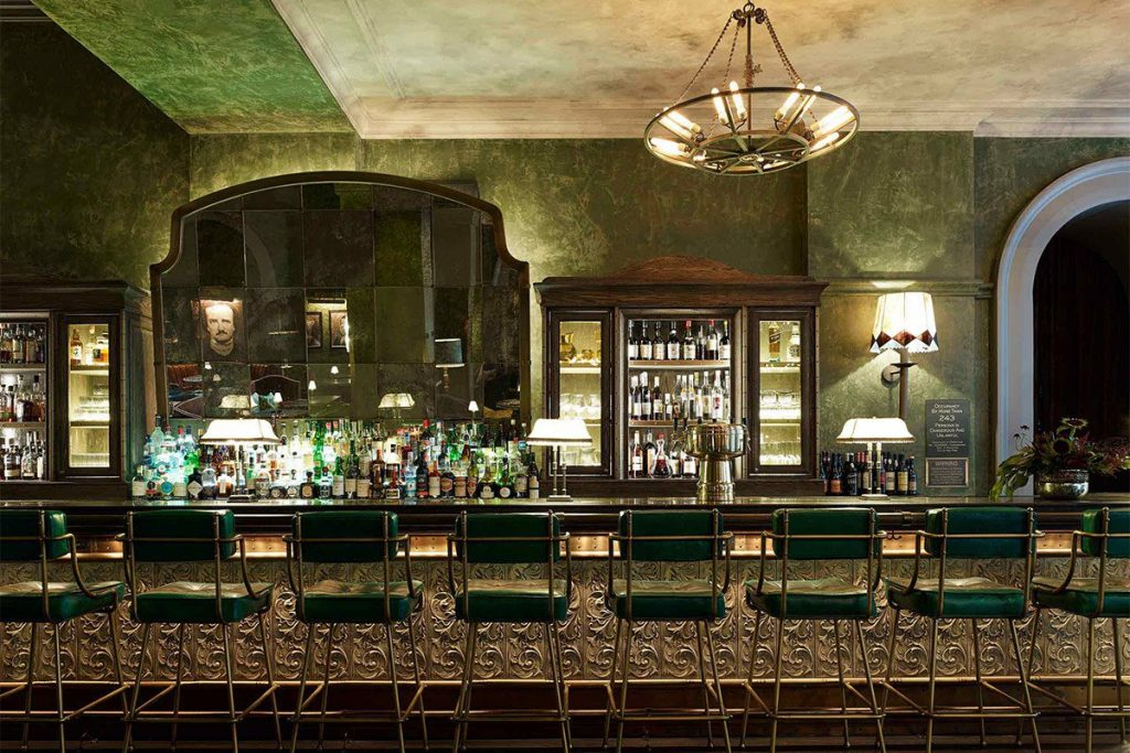 The bar at the The Beekman in New York City radiates the vibe of the roaring twenties.