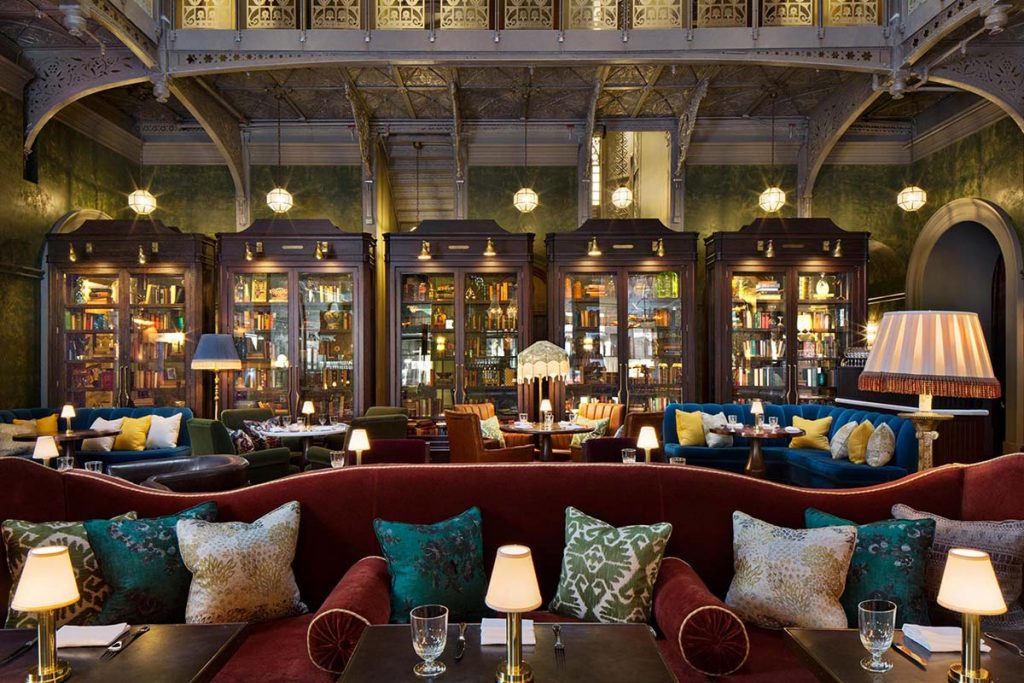 The beekman lobby in New York city has a beautifull authentic style.