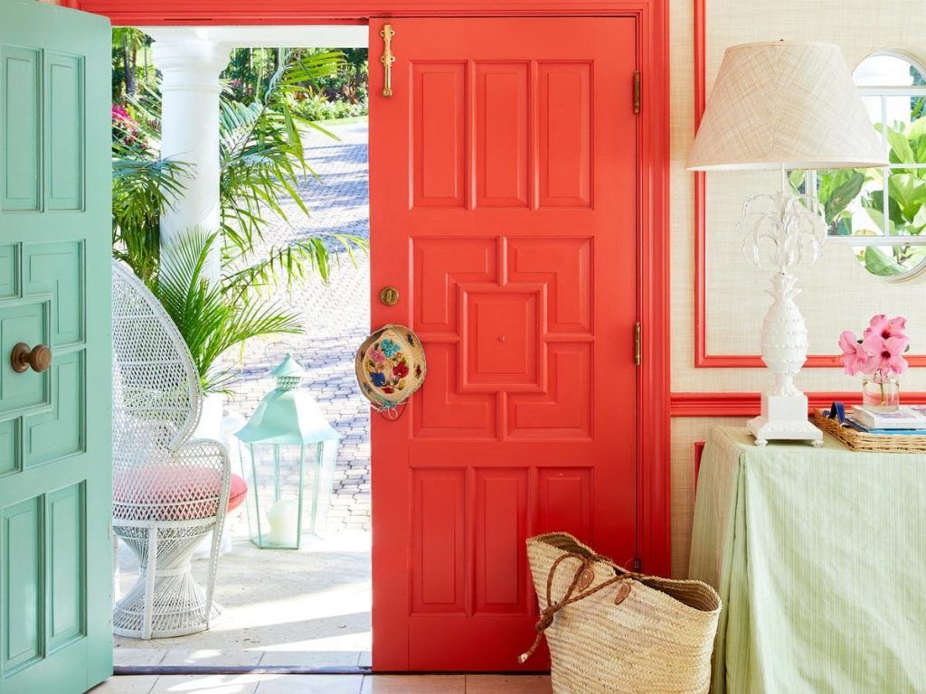 Bold colours on your doors make for a refreshing pallet this summer.
