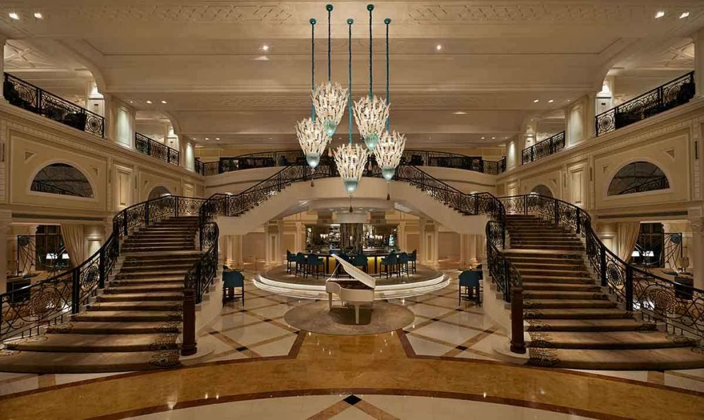 The most famous hotel in New York City is the Waldorf Astoria with its Art Deco touches.