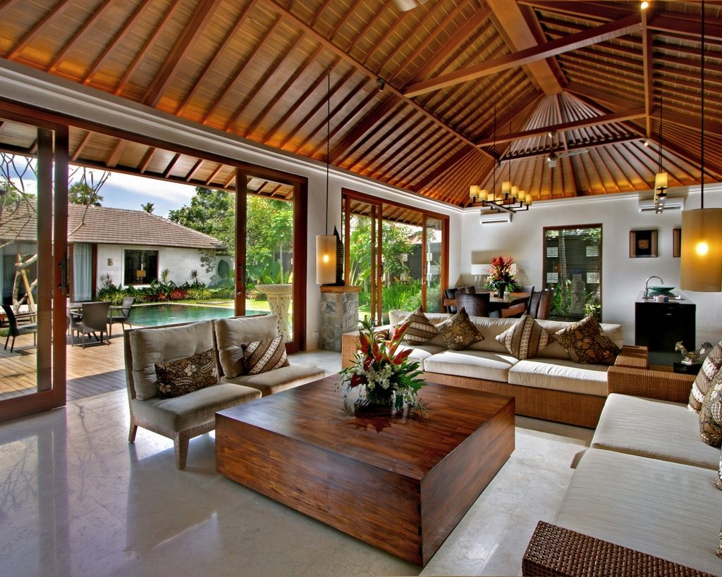 Beautifull modern room with wooden details