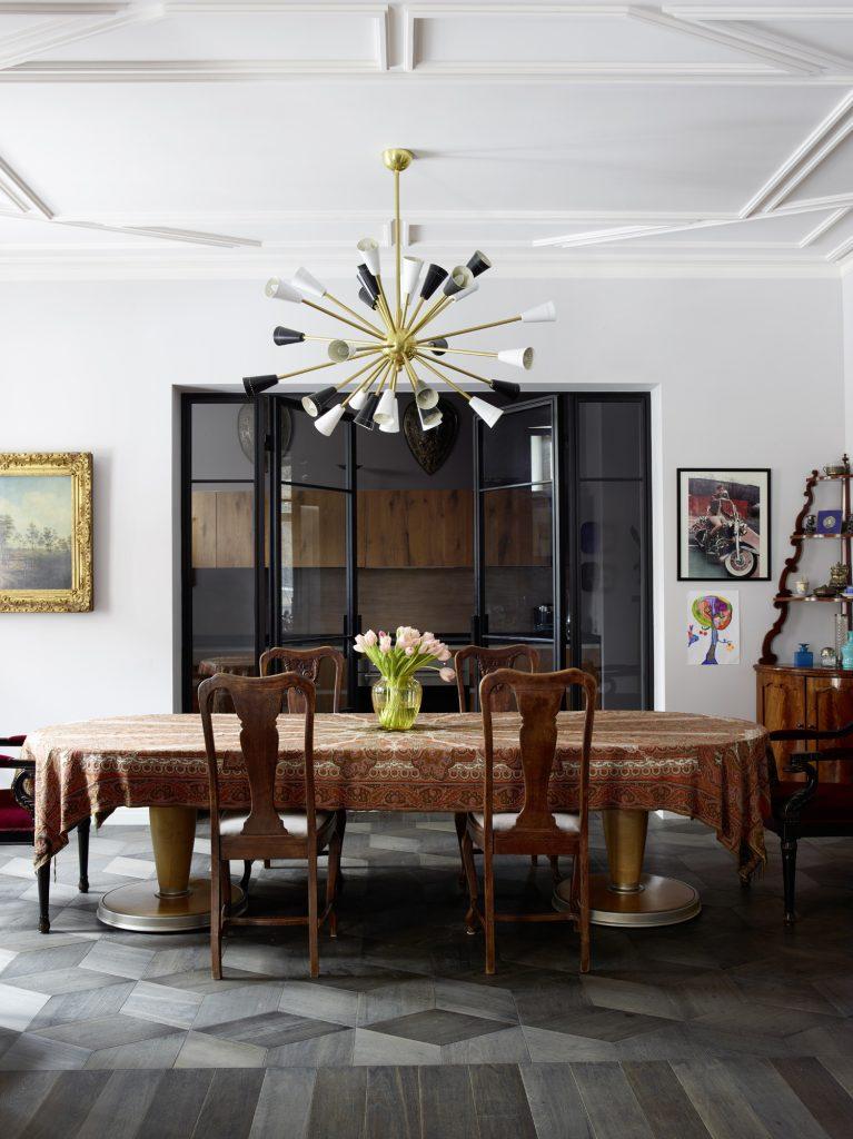 Dining room designed by Alexandra Vertinskaya