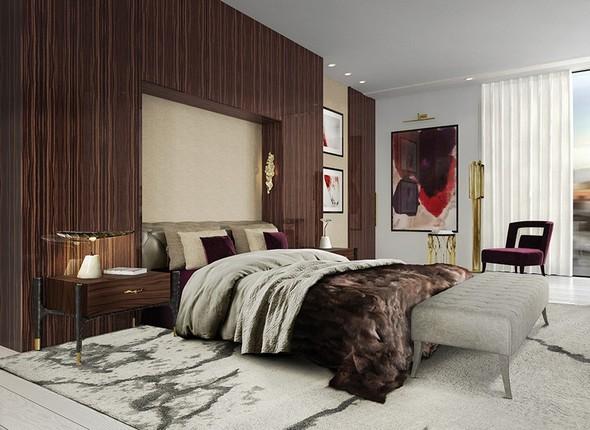 master bedroom designed by Brabbu