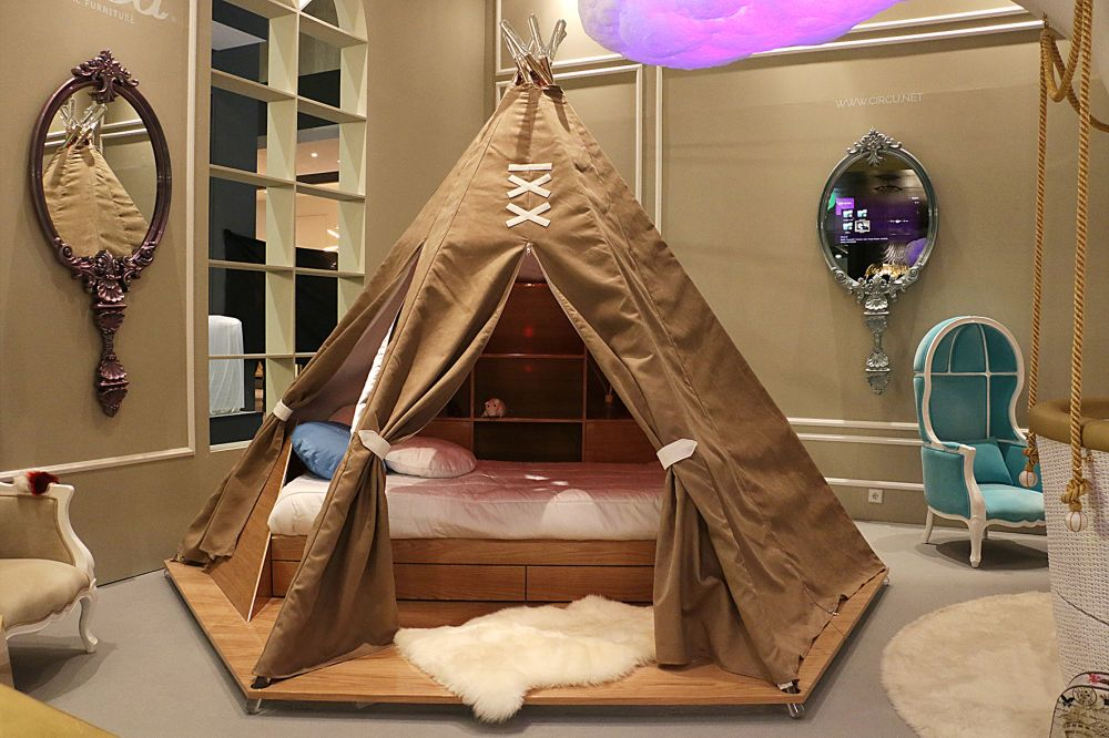 Teepee is a children's tent bed inspired by the traditional indigenous tents