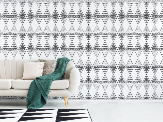 Interior Design Trends 2019 – Decor with Geometric Patterns. White modern style