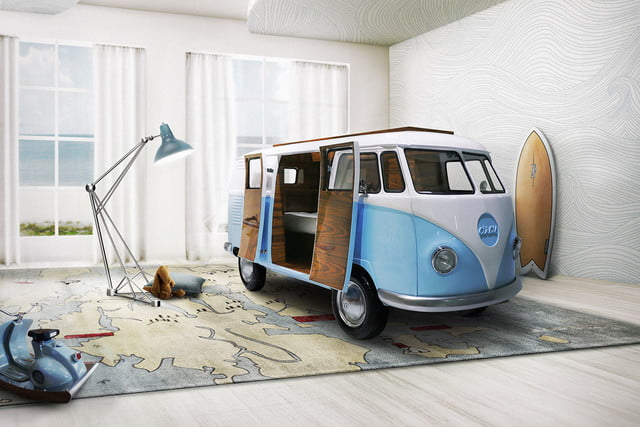 """Bun Van created by Circu is a unique kids bed inspired by the iconic 60's camper van Fillmore from the Disney movie """"Cars"""""""