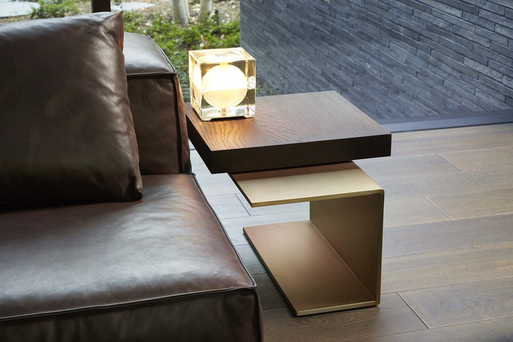 Mandeville Canyon Bronze Side Table  created by  MARMOL RADZINER