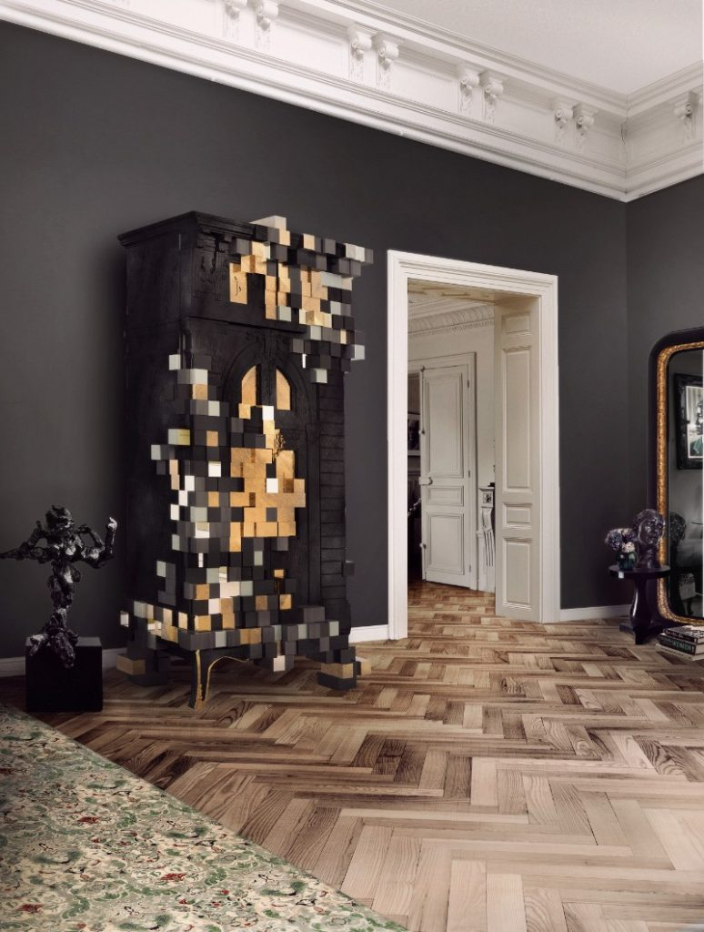Piccadilly Cabinet created by Boca do Lobo - it is a great example of geometric interior detail.