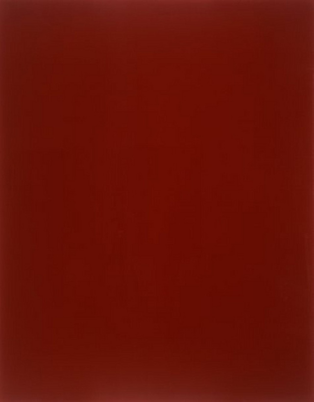 """Blood-red mirror"" - Gerhard Richter"