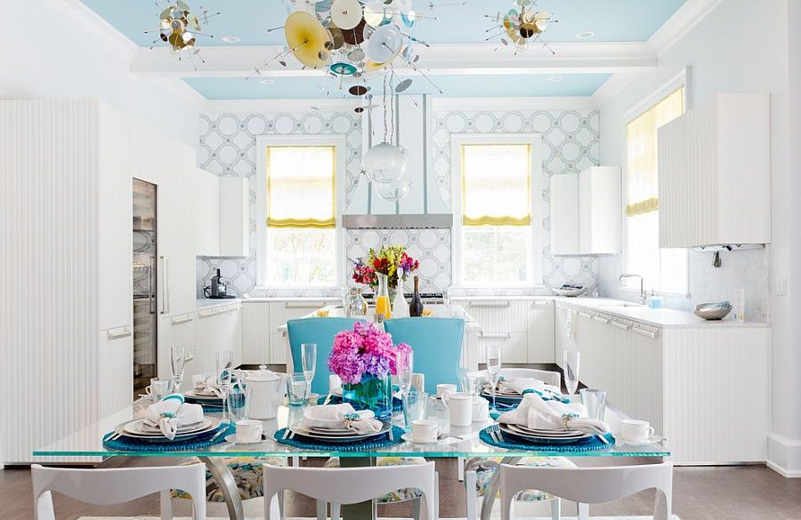 blue dining room project
