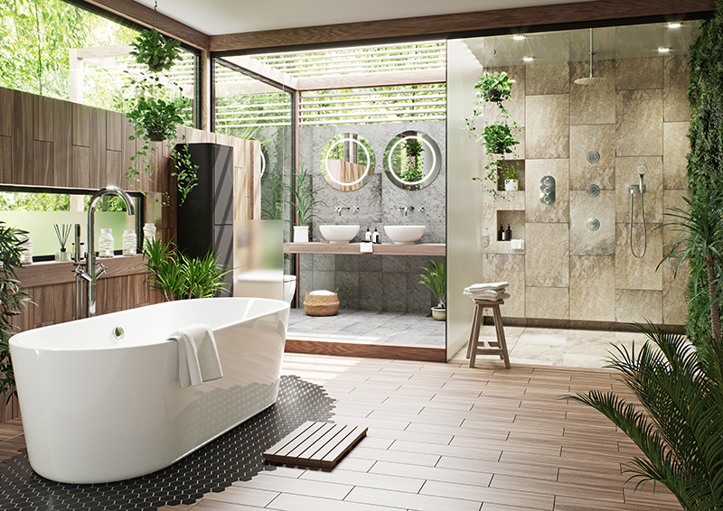 Tropical Bathroom Décor Ideas