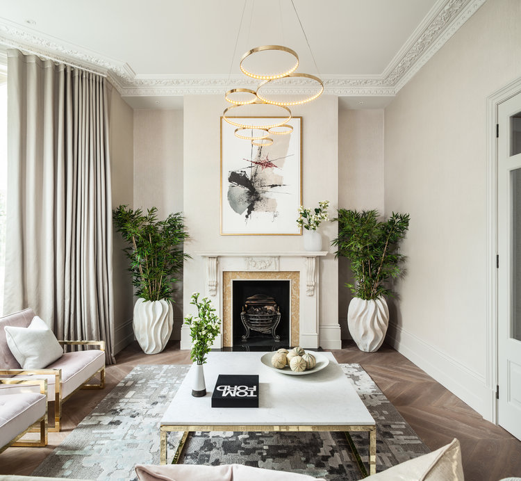 Observatory Gardens, Kensington, Lounge and Fireplace