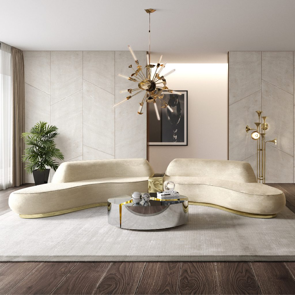 A classy living room using neutral colours