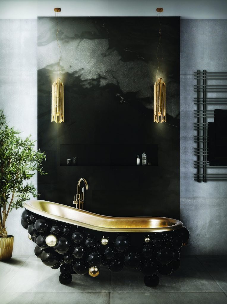 Gold decor bathroom