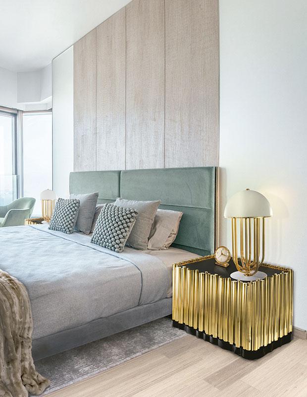 Gold decor bedroom