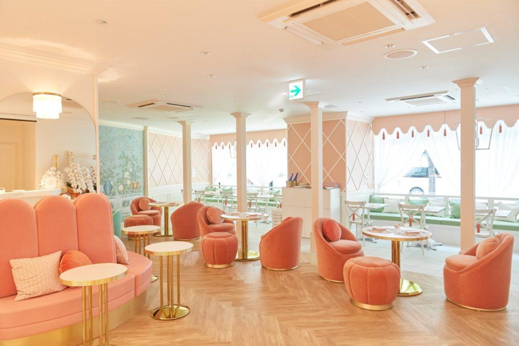 art deco style tea room