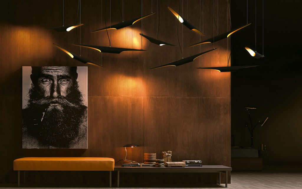 urban modern dark living room